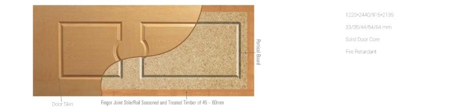 solid door core particle board 35mm