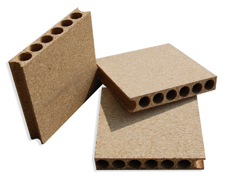 hollow core tubular core chipboard doorcore particle board